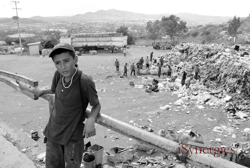 A young resident of a landfill in Nogales, Mexico