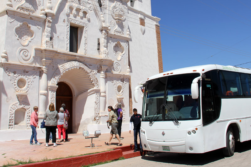 A Nature & Heritage missions tour makes a stop at Tubutama, Sonora