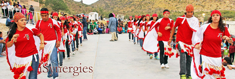 Performing traditional Pre-Hispanic dances near Caborca, Sonora