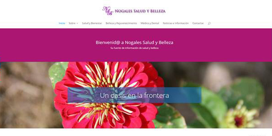 Nogales Salud y Belleza website designed and managed by iSynergies