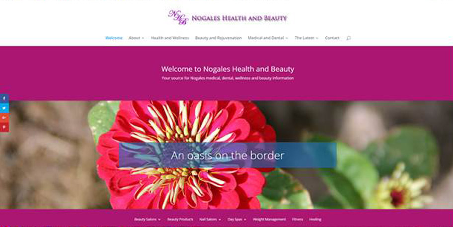 Nogales Health and Beauty website designed and managed by iSynergies